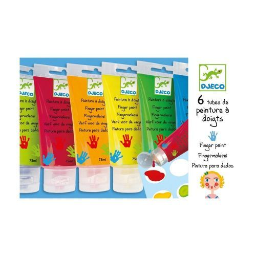Djeco Fingerfarben PAINTS TUBES 6er-Pack