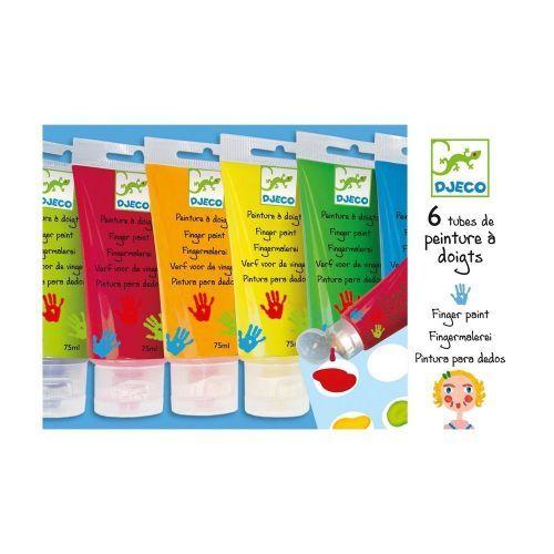 Djeco Fingerfarben PAINTS TUBES 6er-Pack