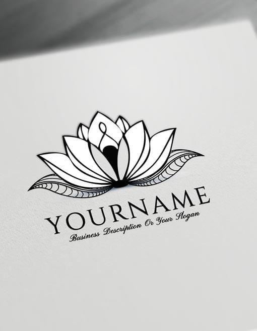 Lotus Tattoo Design Free Lotus Logo Maker Online In 2020 Lotus Tattoo Design Free Tattoo Designs Lotus Logo