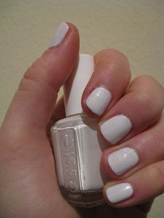 white nail polish...it looks so clean and fresh for summer