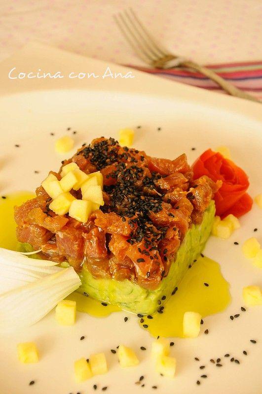 Tartar De Atún Con Aguacate Y Gastroalmuñecar2014 Tartar De Atún Croquetas De Calabaza Recetas De Cocina