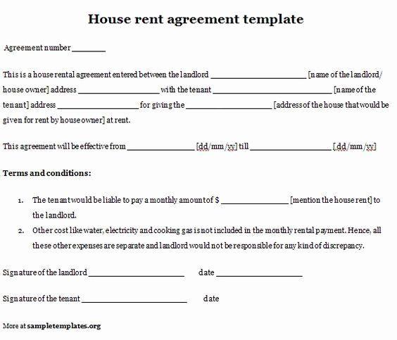 Basic Lease Agreement Template Luxury Printable Sample Simple Room