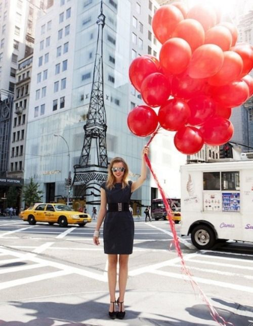 balloons & pretty shoes
