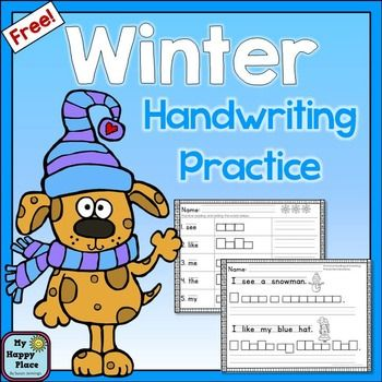 winter handwriting sight words and sentences this freebie is great for morning work or other. Black Bedroom Furniture Sets. Home Design Ideas