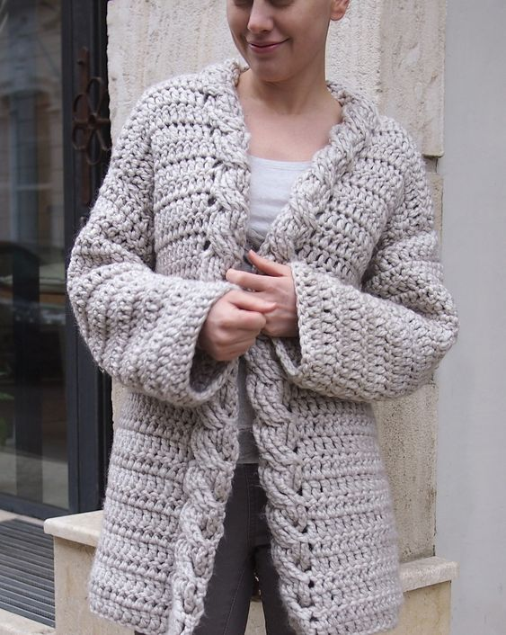 Are you ready for cold weather? We are too! Make this Very Winter cardigan by Accessorise with Lion Brand Wool-Ease Thick & Quick!