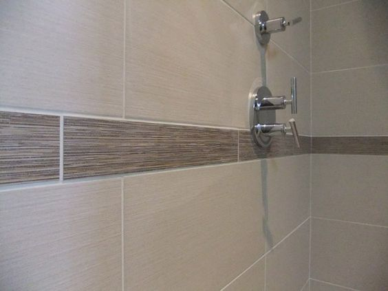 Linen Shower Tile Shower Walls 12 Quot X24 Quot Tile In A Linen