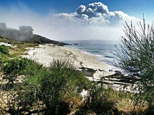 Playa de Melide, Isla de Ons, Galicia