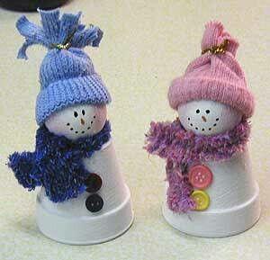Muñecos de nieve.