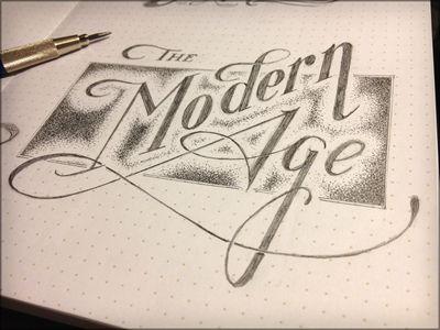 Modern Age / typography design lettering handdrawn
