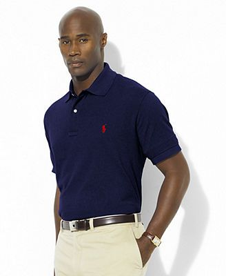 Polo Ralph Lauren Big and Tall Polo Shirt, Classic Fit Mesh - Mens Polos -