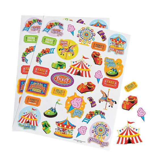 Over The Top Sticker Sheets: http://www.orientaltrading.com/over-the-top-sticker-sheets-a2-36_3024-11-0.fltr?xsaleSku=13590405   OrientalTrading.com