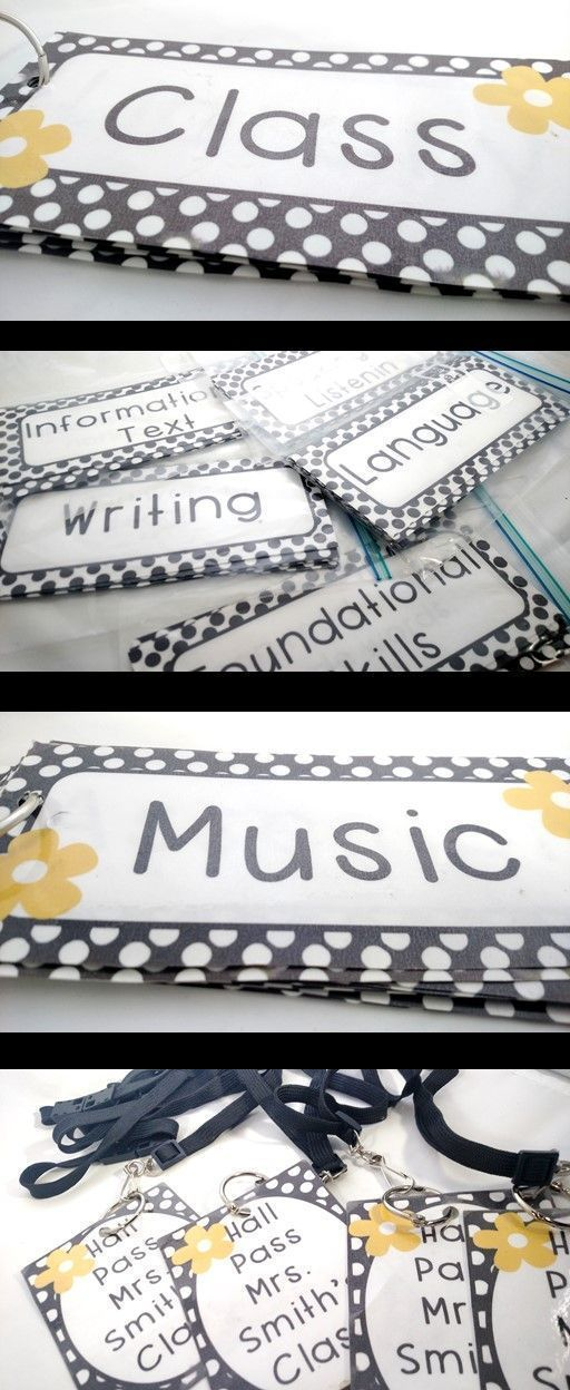 FREE black and white classroom decor
