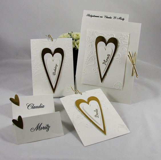 Hochzeitspapeterie - Wir heiraten! - Handgefertigt mit viel Liebe zum Detail.  Verwendete Materialien alle von Stampin´Up!