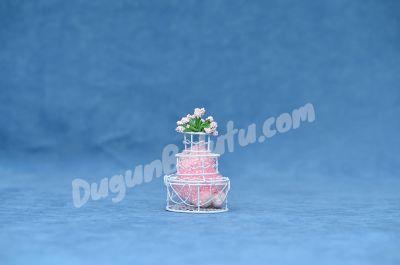 Beyaz Renk Pasta Nikah Şekeri MEN23