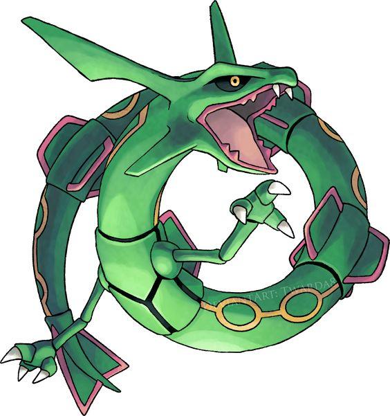 Pokemon Gen 4 Anime Characters : Rayquaza rd gen legendary pokemon characters