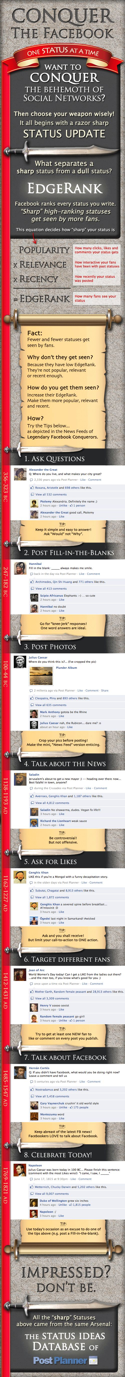 8 Facebook Status Ideas that will Improve your EdgeRank (Infographic)