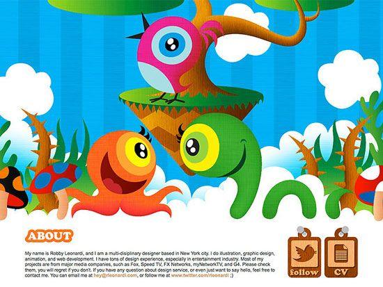 Robby Leonardi #Colorful_Website_Designs #Beautiful_Website_Designs #Bright_Websites