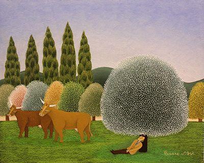 Sweet Slumber in April by Cesare Novi
