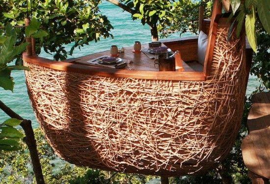 Soneva Kiri Tree Hotel.  This looks like it would be so much fun.  I wonder if its kid friendly...lol.