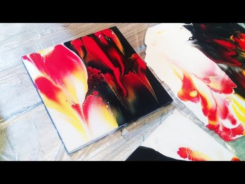 Fluid Art Dollar Store Coasters Light And Dark 2 Sites Dip