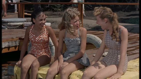 The parent trap 1961. Love haley mills' swimsuit!!! Always loved these cute swimsuits!: