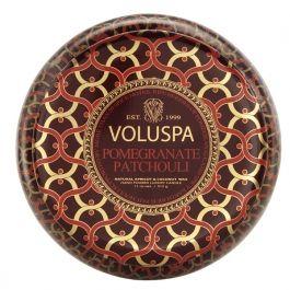 Voluspa Pomegranate Patchouli  tiene dos mechas y una duración de 50 horas. Un aroma delicioso