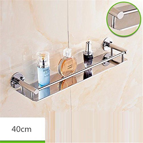 Homjo Bathroom Storage Racks Single Layer Mirror Front Shelf Bathroom Pendant 304 Stainless Steel Bathroom Storage Racks Bathroom Storage Diy Shelves Bathroom