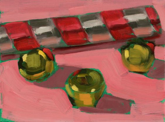 Shiny objects in oil paint by Christine Rose Henderson on ohshepaints.com