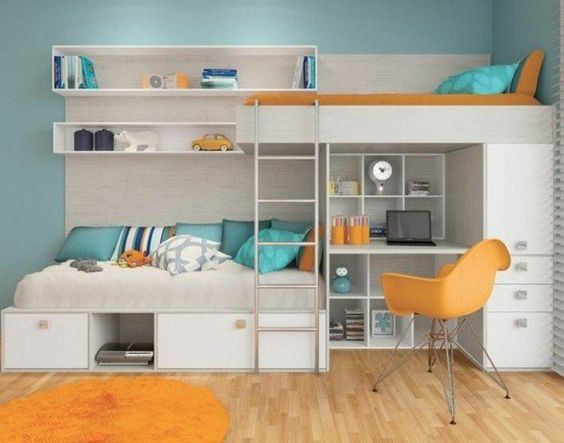 Great Space Saving Solutions For Small Teen Bedrooms Id Es Pour La Maison Pinterest Boys