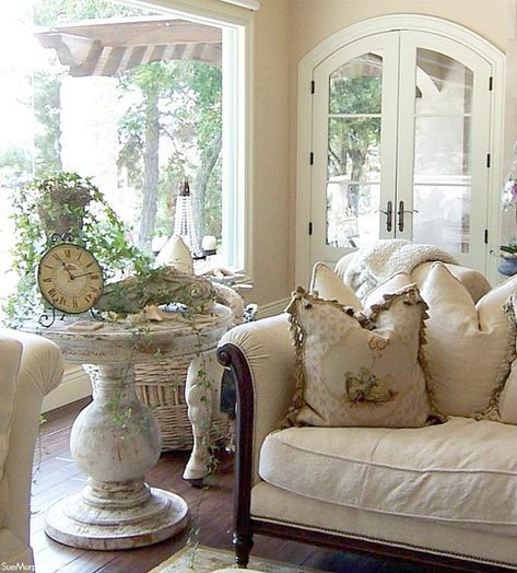 I'm sharing a gorgeous French Country home designed with our French antiques.