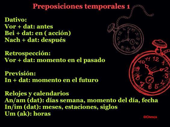 Ich bin, du bist, sie..: 53º PASO:  LAS PREPOSICIONES TEMPORALES. PRIMERA P...