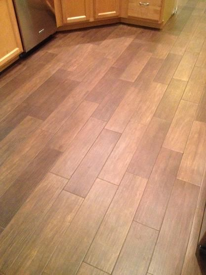 6x24 Walnut Plank Tile Installation On The Valrico Fl