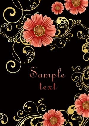 fashion floral background 02 vector
