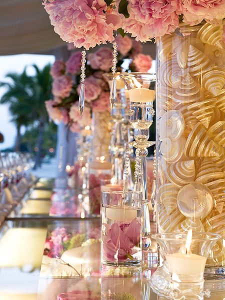 Pink and cream. #Style #Wedding #Decoration