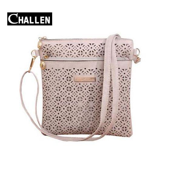 $9.36 (Buy here: http://appdeal.ru/4aby ) 2016 Luxury Messenger Women Bag Hollow bolsa bolso Designer Handbags Leather Shoulder Bag Female Small Crossbody Bags For Women for just $9.36