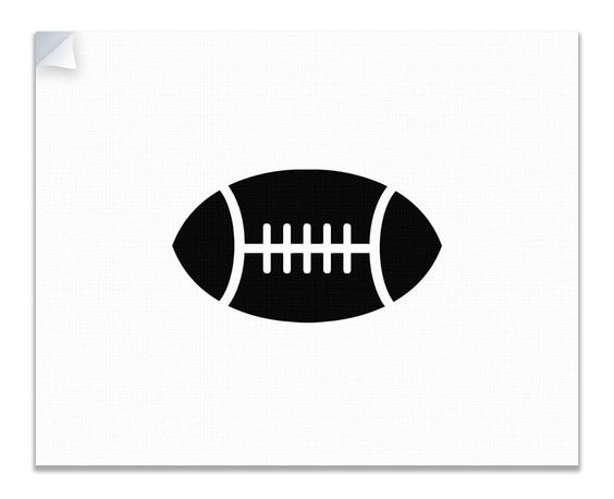 Football Children's Canvas Wall Peel