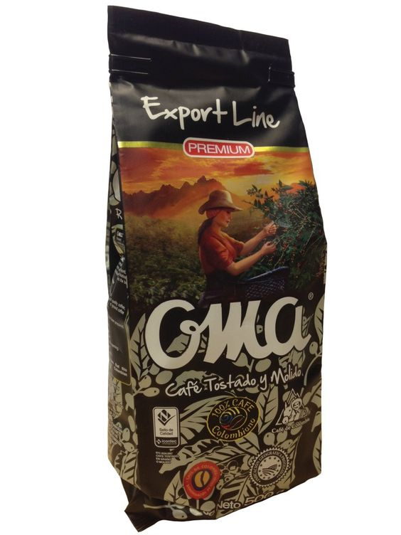 OMA Export Line Premium Roast and Ground Coffee 100% Colombian Coffee/Cafe OMA Tosdado y Molido 500G * Continue @ http://www.amazon.com/gp/product/B00FBX3IGY/?tag=pincoffee-20&pmn=170716084705