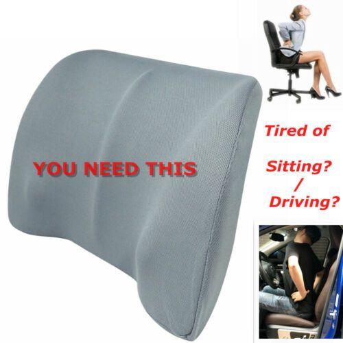 Car Back Support Lumbar Pillow For Seat Support Waist Cushion Memory Foam Cotton Ebay Mesh Office Chair Support Pillows Lumbar Pillow