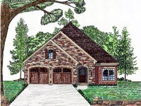 Elevation of Cottage   Country   European   House Plan 74710