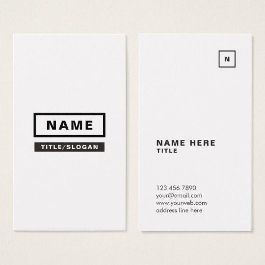 Minimalist Simple Vertical Business Card Zazzle Com Vertical Business Cards Vertical Business Card Design Wedding Planner Card