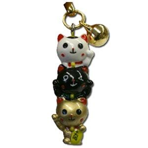 3 Lucky Cats Strap