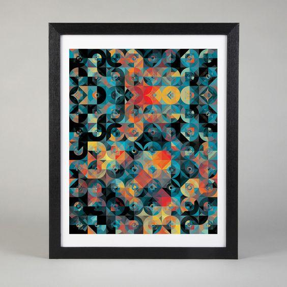 Geometric / Andy Gilmore  Voici quelques fantastiques illustrations géométriques du designer graphique New-yorkais Andy Gilmore.