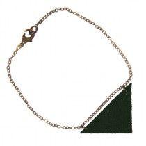 Bracelet Triangle vert sapin