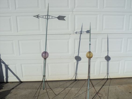 Antique Copper Lightning Rods with Glass balls - $75 ...