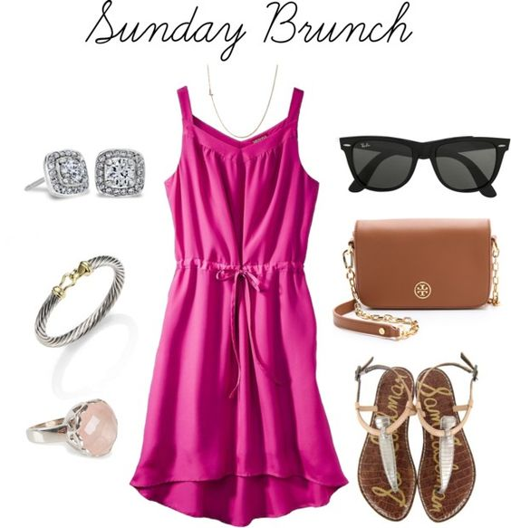 Sunday Brunch outfit featuring Maya Brenner's Mini Letter Necklace  | Pocketsfullofhappiness