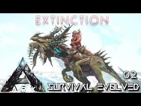 Ark Extinction New Dino Velonasaur Tame Ark Survival Evolved E02 Youtube Ark Survival Evolved Extinction Ark