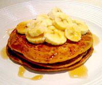 banana or blueberry pancakes
