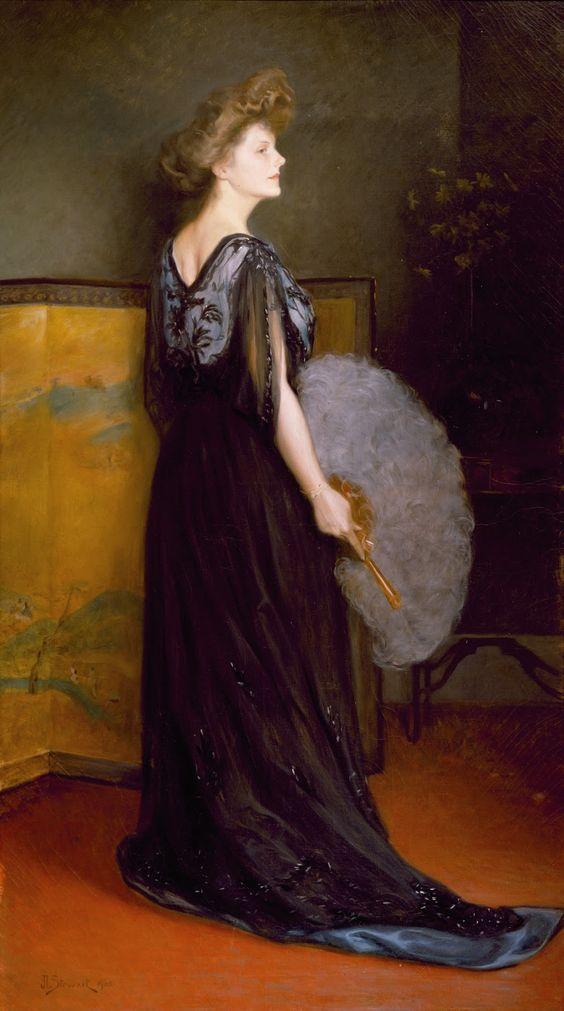 Julius Le lanc Stewart portraitf mrs francis stanton blake