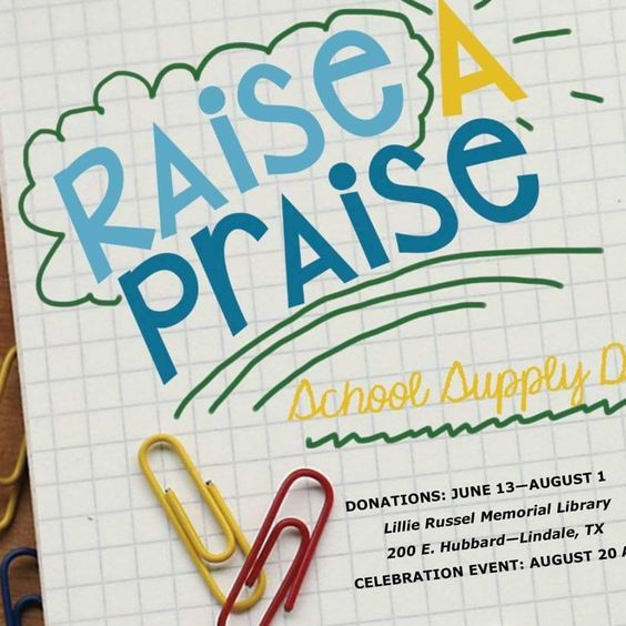 4th Annual Raise A Praise Back to School Event