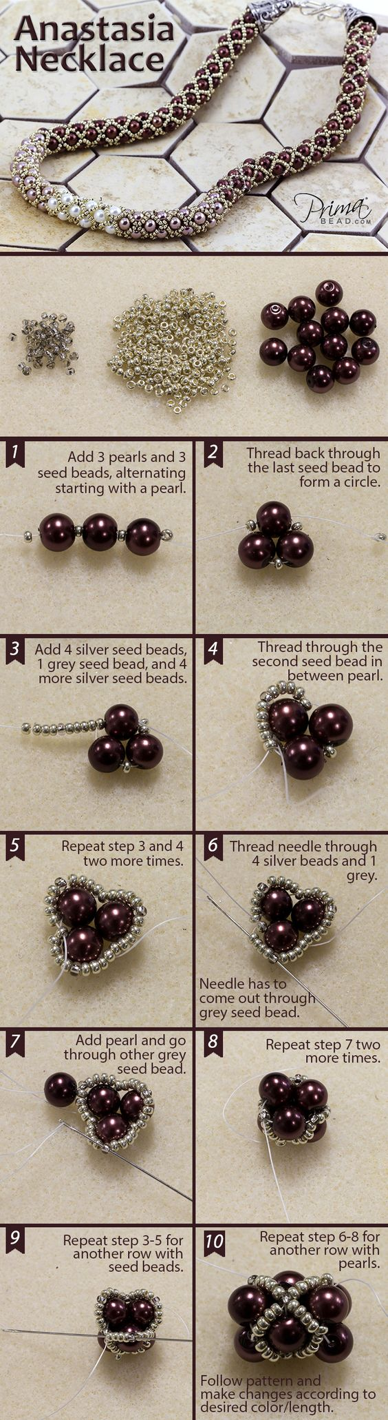 Master this filled tubular netting technique and see our full collection of bead weaving patterns! #DIY #jewelry #beads #beadweaving #seedbeads #project: